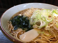 Soba topped with a mixed vegetable tempura from MOnju @ Asakusa (Fuyuhiko) Tags: soba topped with mixed vegetable tempura from monju asakusa tokyo 東京 天ぷら かき揚げ そば 蕎麦 ソバ 浅草 文殊 天婦羅 テンプラ