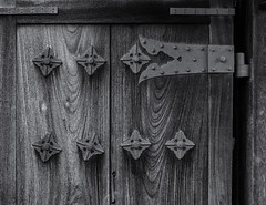 Weathered temple door (Tim Ravenscroft) Tags: door wood grain hinge old weathered yoboji kyoto japan hasselblad hasselbladx1d