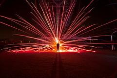 красная катюша (Sven Gérard (lichtkunstfoto.de)) Tags: lightartphotography lightpainiting sooc lichtkunstfoto fireworks bagger1452 industrial abandoned derelict hagenwerder