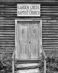Portals 33 - Garden Creek Baptist Church (Joseph Brunjes) Tags: 2019 brunjes joseph chamonix 11x14 hp5 film largeformat ulf portal door church nc