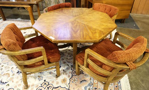 Drexel Heritage octagonal table with 4 chairs ($235.20)