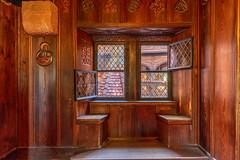 Haute-Koenigsbourg Alsace (karlheinz klingbeil) Tags: wood france schloss window frankreich burg alsace fenster interior hdr chateau castle holz hautkoenigsbourg orschwiller départementbasrhin fr