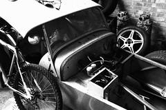 Awaiting restoration (Bruce82) Tags: vehicle car racing restoration lotus 7 seven monochrome bw canon canonpowershotg9xmarkii
