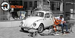 """""""Factory"""" Un amour de coccinelle, Rétrofolies 2018 de Spa, Belgium (claude lina) Tags: claudelina belgium belgique belgië spa rétrofolies rétrofolies2018spa auto voiture car véhicule oldcar vieillevoiture vw volkswagen coccinelle guitare guitariste"""
