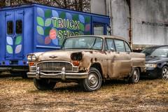 Rusted Through (* Gemini-6 *) Tags: checker truck rust decay chrome automobile transportation vehicle rain hdr patina hss