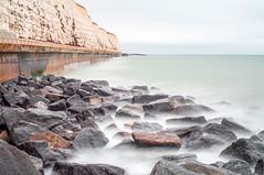 Undercliff Rock Groyne (Trev Packer Photography) Tags: longexposure rocks beach seaside cliffs ethereal mistywater ocean sea mistysea water saltwater