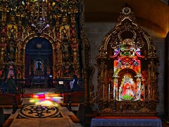 Following the light (tlillig) Tags: color light sigma16mm a6000 alpha mary stainedglass church europe sevilla spain iglesiadelsalvador