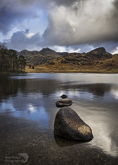 Blea tarn (AngiZW) Tags: lakedistrict tarn bleatarn cumbria mountains langdale pikes reflections waterscape