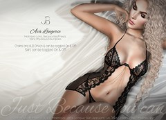 NEW! Ava Lingerie - at Fameshed X! (Just BECAUSE_SL) Tags: lingerie sexy fameshed x adult lace sheer bra panties chain jewelry classy wedding bride honeymoon beautiful secondlife sl just because bedroom hot boobs butt booty
