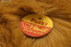 Steiff Fuzzy Fox Tag (Retro Photo International) Tags: steiff fuzzy fox austria ohr toy macromondays carl zeiss jena 50mm 35 macro fur stuffed animal tag f22