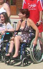 Polio on Wheels (jackcast2015) Tags: handicapped disabledwoman crippledwoman wheelchair paralysed poliogirl legbraces calipers polio poliowoman