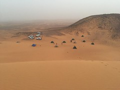 Camping in a Sand Storm