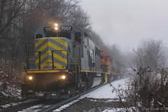 Reesedale Road (Dan A. Davis) Tags: buffalopittsburgh bprr bp geneseewyoming gw sd50 sd402 sd40t2 freight freighttrain train railroad locomotive pennsylvania pa carboncenter adrian cowansville