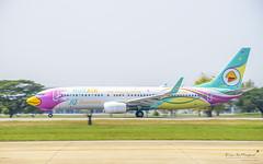 Nok Air HS-DBQ Boeing 737-800 (Kan_Rattaphol) Tags: aircraft airplane airlines boeing b737 b737800 nokair nokairlines dd dmk vtbd hsdbq