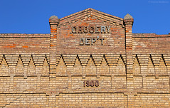 GROCERY DEP'T - Pomeroy - Washington State (Electric Crayon) Tags: sign grocery pacificnorthwest washingtonstate garfieldcounty pomeroy usa unitedstates america decay brick facade exterior smalltown electriccrayon patrickmcmanus