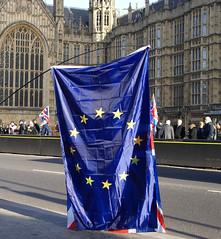 E.U. Flag (ChiralJon) Tags: london westminster kingdom united flag europe eu gb european union demonstrators photography news politics parliament unión europea européenne londres londyn londra europese unie