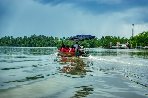 Boat trip on the Mae Klong river at Amphawa in Samut Songkhram province in Thailand