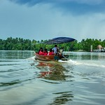 Boat trip on the Mae Klong river at Amphawa in Samut Songkhram province in Thailand thumbnail