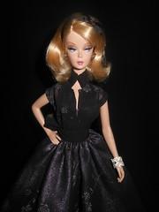 Preferably Pink wearing Sanglian (ksavoie1213) Tags: preferablypink 2008silkstone silkstonebarbie silkstone robertbest barbie mattel sanglian blackbackground blondbarbies blonddolls blondes dolls fashiondolls