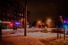 IMG_6918 (denjah) Tags: 2018 latvia riga городскоеосвещение зима зимнийвид ноч ночноефото снег улица фонарь iela night nightshot snow winter город дома bank road denjahphoto