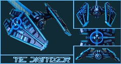 TIE Digitizer - TRON/Star Wars Mashup (Greeble_Scum) Tags: star wars tron lego moc tie fighter space empire grid