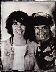 Maria and Raquel (fitzhughfella) Tags: wetplate tintype tinplate collodion silvernitrate ether largeformat 5x4 graflexspeedgraphic kodakaeroektar portrait