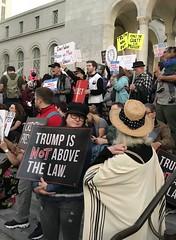 Protest in support of Mueller investigation (TomChatt) Tags: dtla resistance