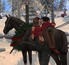 Christmas (BunnyLatoe) Tags: holdme sl second life secondlife christmas horse carriage photography