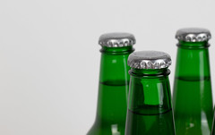 Green Beer Bottles With White Background (focusonmore.com) Tags: background celebration closed cold color condensation cool dew drop drunk freshness full glass green isolated pub reflection refreshment transpernt white