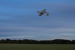 Bristol (music_man800) Tags: bristol boxkite plane aircraft aeroplane vintage replica old flying fly flight airshow air show race day warden 2018 october field airfield aerodrome shuttleworth collection bedfordshire evening dusk blue hour clouds afternoon late cold display edwardian edwardians pilot canon 700d adobe lightroom creative cloud edit photography bristols arty artistic frame framing scene trees rural countryside uk united kingdom