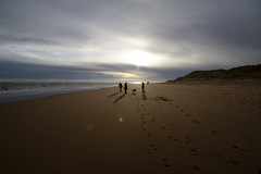 """figures on the winter sands, Newburgh beach, Aberdeenshire, Scotland (grumpybaldprof) Tags: aberdeenshire scotland newburgh """"sandsofforvienaturereserve"""" beach sand sea """"northsea"""" """"ythanriver"""" sky clouds perspective north estuary colour sun patterns texture landscape seascape aberdeen """"fineart"""" ethereal striking artistic interpretation impressionist stylistic style contrast shadow bright dark black white illuminated winter light sunshine silhouettes figures people canon 7d """"canon7d"""" sigma 1020 1020mm f456 """"sigma1020mmf456dchsm"""" """"wideangle"""" ultrawide"""