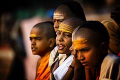 "Novice Hindu Monks Doing Morning Prayers, Varanasi (El-Branden Brazil) Tags: varanasi india indian ganges ganga ceremony hindu hinduism asian asia sacred holy mystical ""south asia"" sadhu"