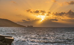 DSG_7137.jpg (alfiow) Tags: coastpath colwell seawall sunset totland
