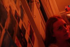Self portrait, night (georgiel_) Tags: girl bedroom teenager teenagegirl teenagers tumblr cinematic cinema canon selftimer red glow lamp youth youngphotographer tired sleep gentle tender