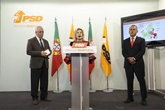 Rui Vinhas da Silva, David Justino e Isabel Meirelles em Conferência de Imprensa