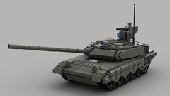 t90ms main battle tank (V4)1 (demitriusgaouette9991) Tags: lego military ldd army armored powerful tank turret railgun russian whitebackground lmg vehicle deadly destroyer