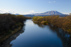 Mountain and river (kat-taka) Tags: river mountain nature d750 tamron iwate japan blue landscape