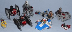 Lego - Microfighters Series 5 (Darth Ray) Tags: lego starwars microfighters series5 2018 star wars series 5 75193 millennium falcon chewbacca 75194 first order tie fighter pilot 75195 ski speeder vs walker driver 75196 awing silencer kylo ren