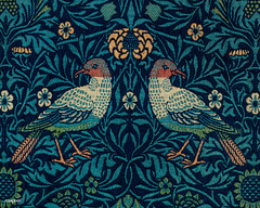 Birds by William Morris (1834-1896). Original from The MET Museum. Digitally enhanced by rawpixel. (Free Public Domain Illustrations by rawpixel) Tags: antique art artwork background beautiful bird bloom blooming blossom blue bohemian branch cc0 colorful composition decor decoration decorative delicate design detailed elegant fabric flora floral flower garden graphic green illustration interiordesign leaves mirrored morris name nature old ornament ornamental pattern pdproject petal print publicdomain retro style stylish textile texture vintage wallpaper william williammorris