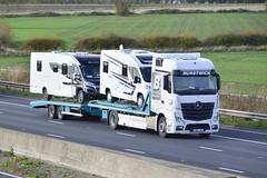 YD67 JXL (panmanstan) Tags: mercedes actros mp4 wagon truck lorry commercial freight transport drawbar haulage vehicle m62 motorway sandholme yorkshire