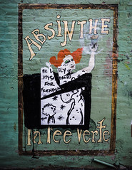 Absinthe makes the heart grow fonder (real ramona) Tags: art graffiti wallart absinthe poster street chicago damen wickerpark