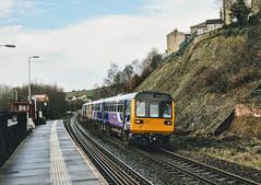 Slaithwaite Huddersfield West Yorkshire 12th March 2017 (loose_grip_99) Tags: slaithwaite huddersfield west yorkshire march 2017 class 142 diesel multiple unit train railway railroad northern pacer transport dmu england uk