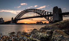 Sydney Harbour Bridge at Sunset (StefanKleynhans) Tags: sydney harbour harbourbridge nikond800e nikon nikon1635mmf4 nsw australia sunset bridge structure ocean water