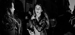 Sleepwalking. (Baz 120) Tags: candid candidstreet candidportrait city contrast street streetphotography streetphoto streetportrait strangers sony a7 rome roma europe women monochrome monotone mono noiretblanc bw blackandwhite urban life portrait people italy italia grittystreetphotography flashstreetphotography faces decisivemoment