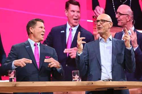 Keith Krach with Timotheus Höttges, CEO of Deutsche Telekom / Chairman of T-Mobile