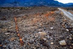 Death Valley NP, California: The Red Line (rocinante11) Tags: deathvalley nationalpark california unitedstates road rock stones art installation environmentalart dvnp westsideroad