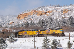 UP 8419 Palmer Lake 12 Nov 18 (AK Ween) Tags: up unionpacific up8419 emd sd70ace palmerlake jointline csux train railroad