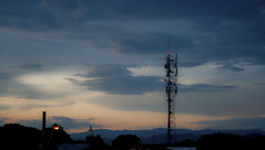 The tower and the sunset (Sergio D. Crivelin Junior) Tags: tower sunset pôrdosol landscape paisagem