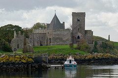 Inchcolm Abbey (<p&p>photo) Tags: scotland uk forth firthofforth water river waterway landscape seascape building architecture church tower religion placeofworship worship abbey inchcolm ruin decay old historic history island isle inchcolmabbey boat vessel medieval