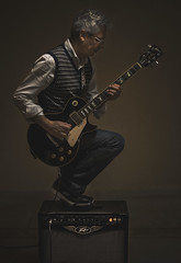 55 & Still Rock'in you! (Jesus Solana Poegraphy) Tags: selfportrait poegraphy poegraphies rock rocker guitar electric gibson peavey birthday fineart fineartphotography energy live music fun